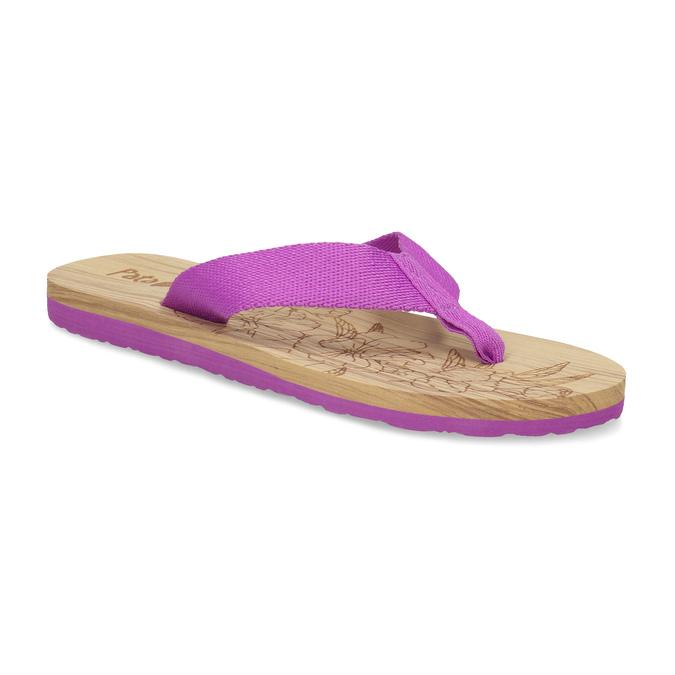 Dámské žabky fialové pata-pata, fialová, 579-5630 - 13