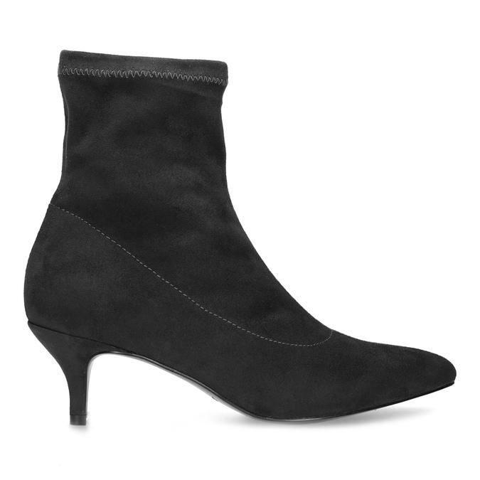 Šedé ponožkové kozačky na Kitten podpatku bata, šedá, 699-2643 - 19