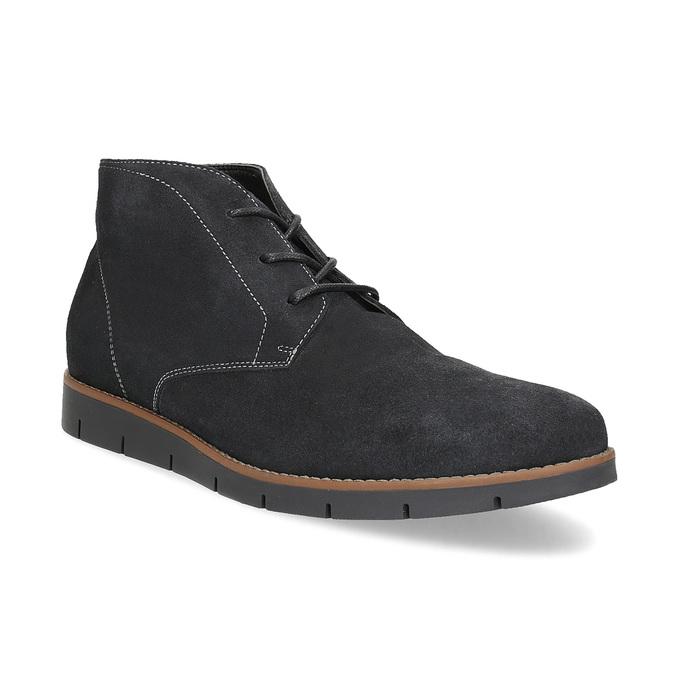 Pánská kotníčková kožená obuv modrá flexible, modrá, 823-2632 - 13