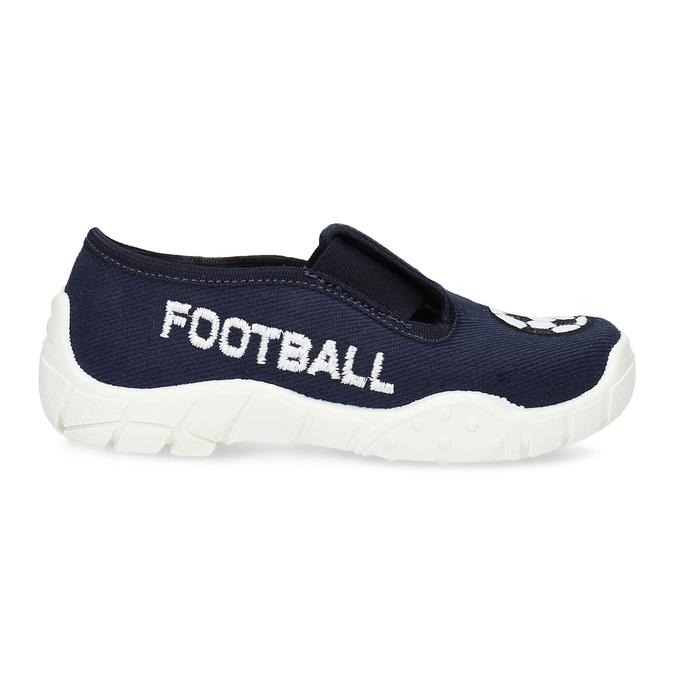Tmavě modrá dětská Slip-on obuv mini-b, modrá, 379-9601 - 19