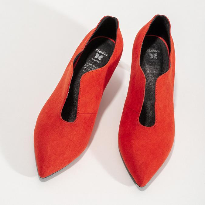 Červené lodičky do špičky insolia, červená, 629-5648 - 16
