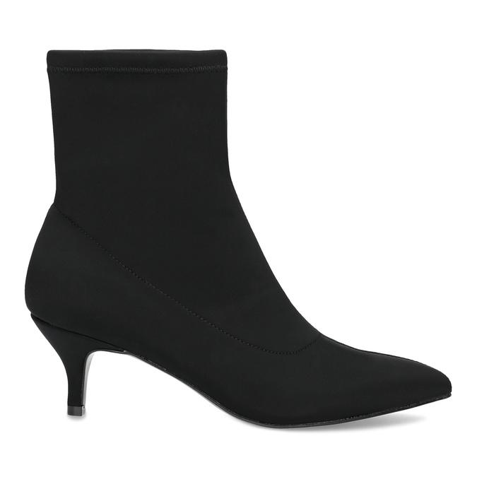 Černá kotníková obuv na kitten heel bata, černá, 699-6643 - 19