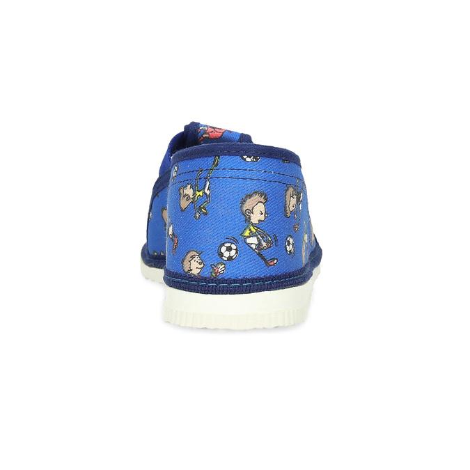 Modré dětské přezůvky se vzorem bata, modrá, 179-9213 - 15
