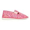Růžové dívčí přezůvky se vzorem bata, růžová, 179-5213 - 19