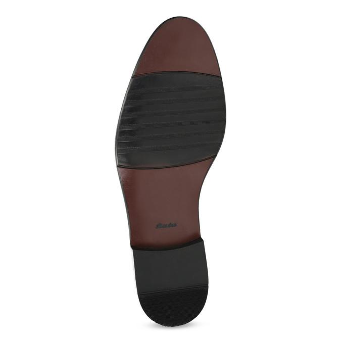 Kožené šedé pánské Derby polobotky bata, šedá, 826-2782 - 18