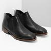 Pánské Chelsea kožené černé bata, černá, 826-6504 - 26