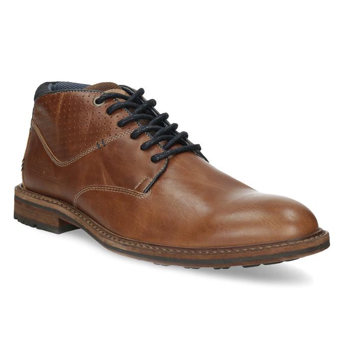 Kotníčková kožená obuv pánská hnědá bata, hnědá, 826-3505 - 13