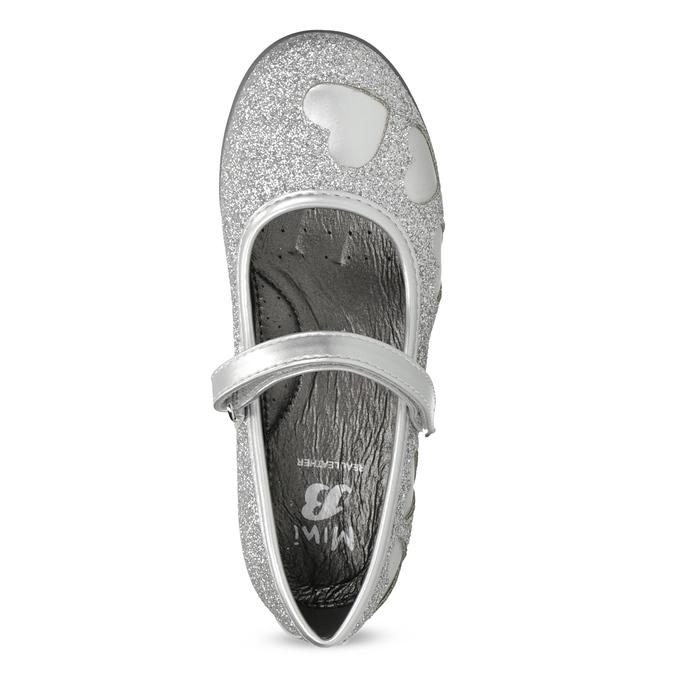Dívčí baleríny se třpytkami mini-b, stříbrná, 229-2214 - 17