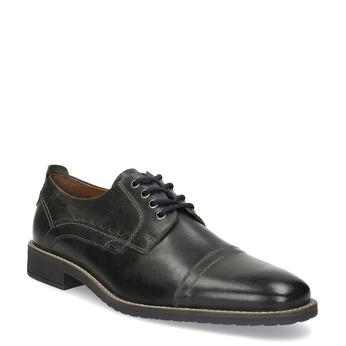 Pánské kožené Derby polobotky bata, šedá, 826-2866 - 13