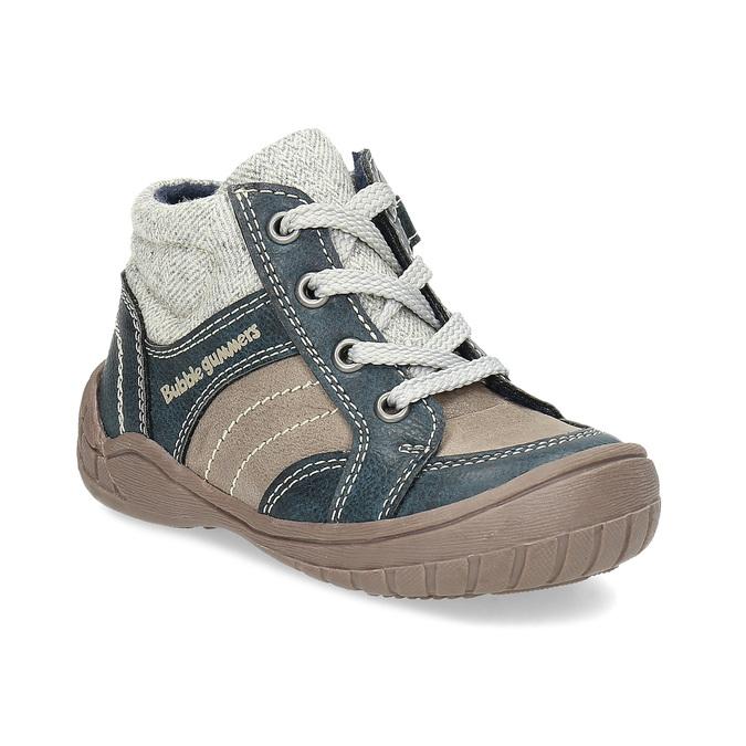 Dětská kotníčková obuv s teplou podšívkou bubblegummers, šedá, 111-2627 - 13
