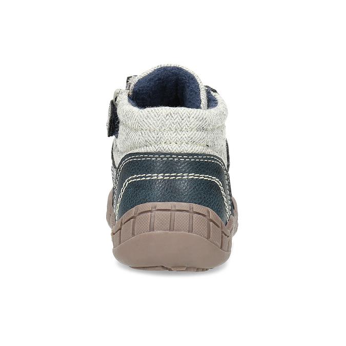 Dětská kotníčková obuv s teplou podšívkou bubblegummers, šedá, 111-2627 - 15