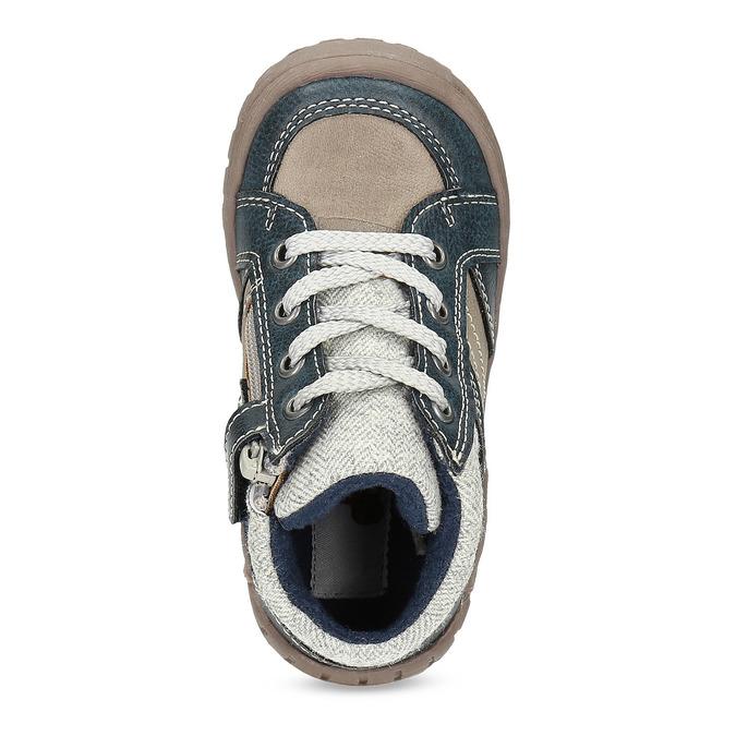 Dětská kotníčková obuv s teplou podšívkou bubblegummers, šedá, 111-2627 - 17