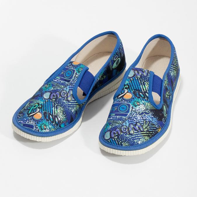 Dětské modré přezůvky se vzorem bata, modrá, 279-9124 - 16