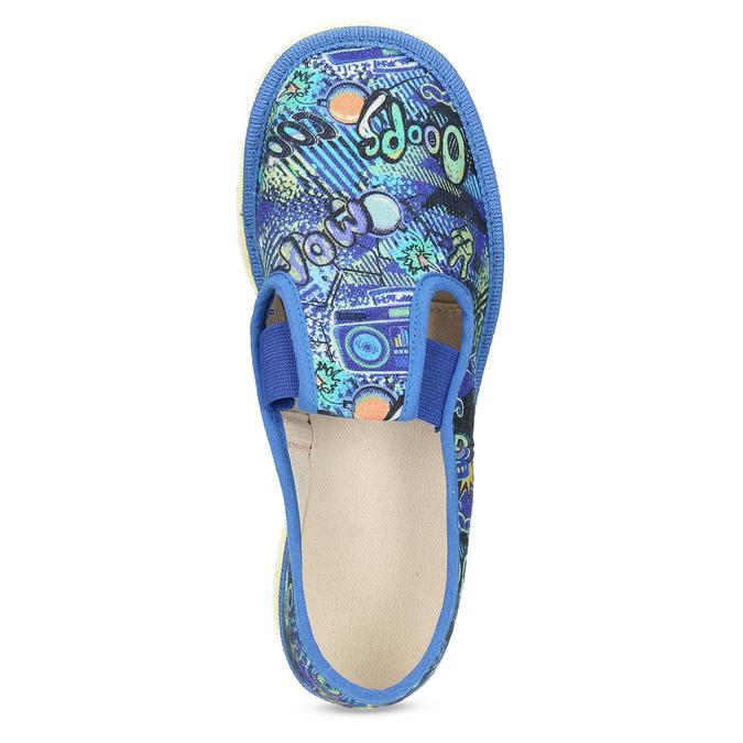 Dětské modré přezůvky se vzorem bata, modrá, 279-9124 - 17