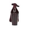 Vínové lodičky s pásky a stabilním podpatkem insolia, červená, 729-5624 - 15