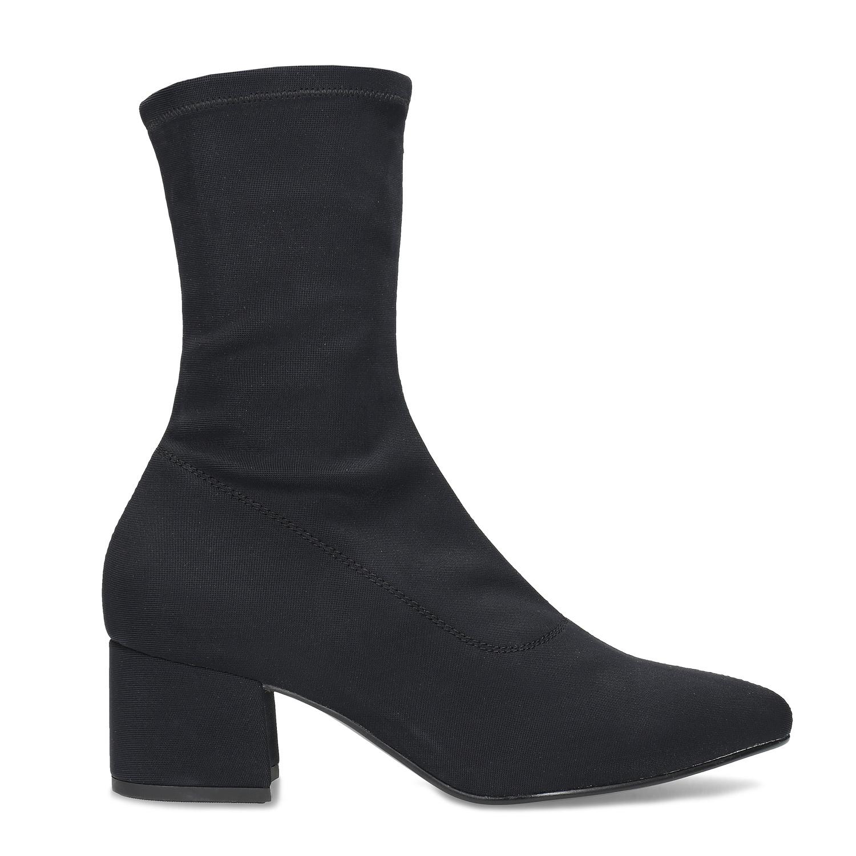 Černé ponožkové kozačky Vagabond - Na podpatku  899e90ac67