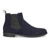 Tmavě modrá kožená pánská Chelsea obuv vagabond, modrá, 813-6153 - 19