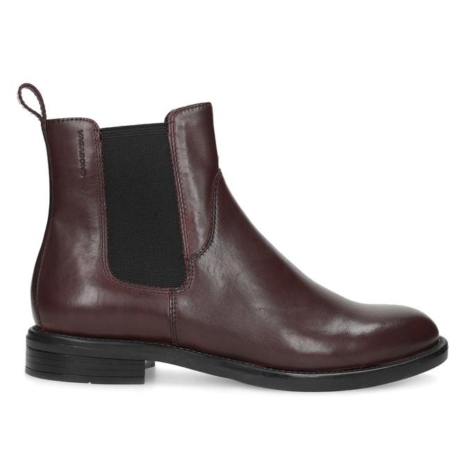 Hnědá kožená dámská Chelsea obuv vagabond, hnědá, 516-4130 - 19