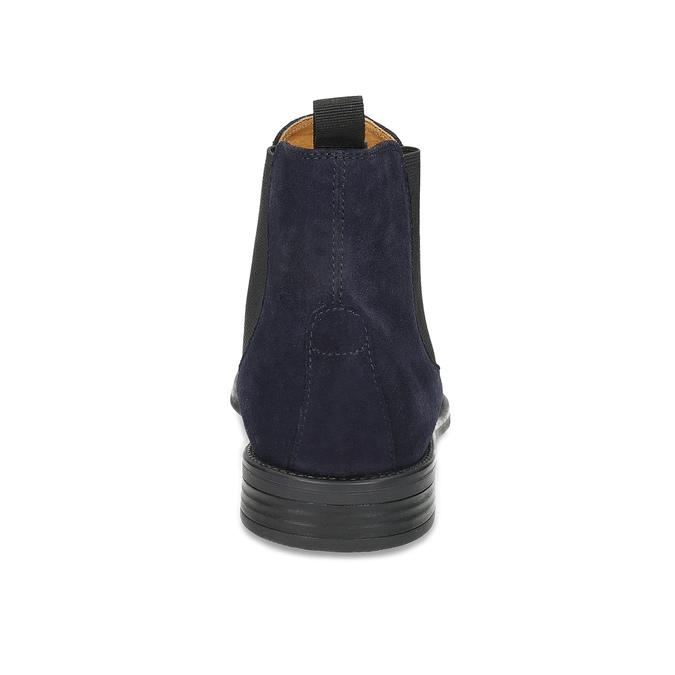 Tmavě modrá kožená pánská Chelsea obuv vagabond, modrá, 813-6153 - 15