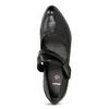 Černé lodičky šíře G s asymetrickým páskem, černá, 626-6649 - 17