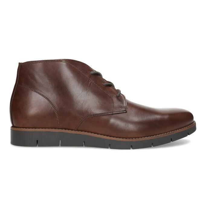 Pánské kožené hnědé Chukka Boots flexible, hnědá, 826-4972 - 19