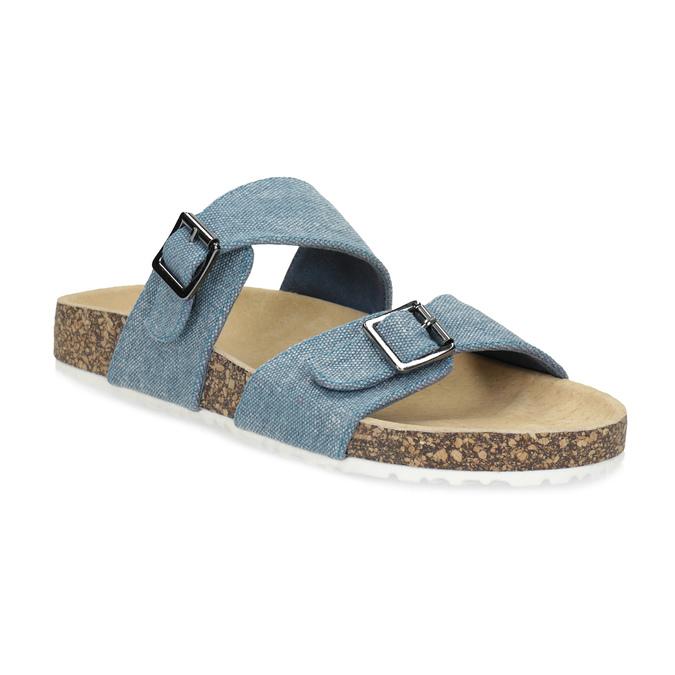 Dámské korkové pantofle modré bata, modrá, 579-9625 - 13
