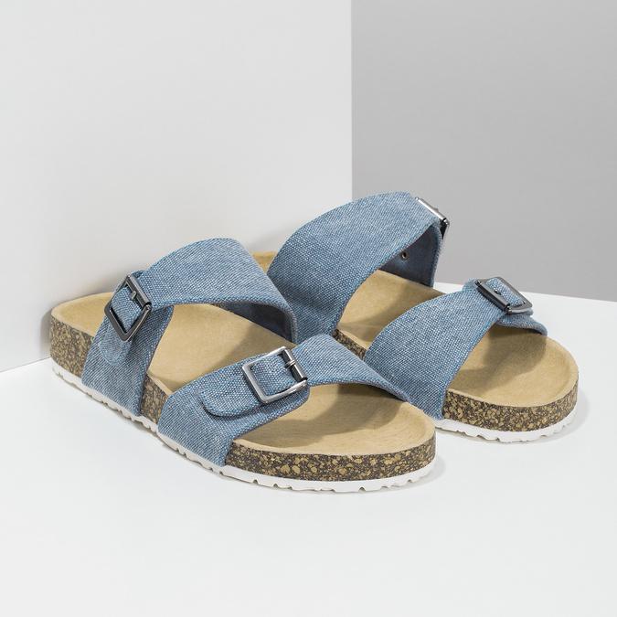 Dámské korkové pantofle modré bata, modrá, 579-9625 - 26
