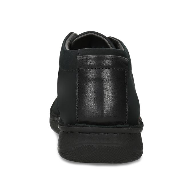 Pánská kotníčková obuv z broušené kůže bata, černá, 846-6716 - 15