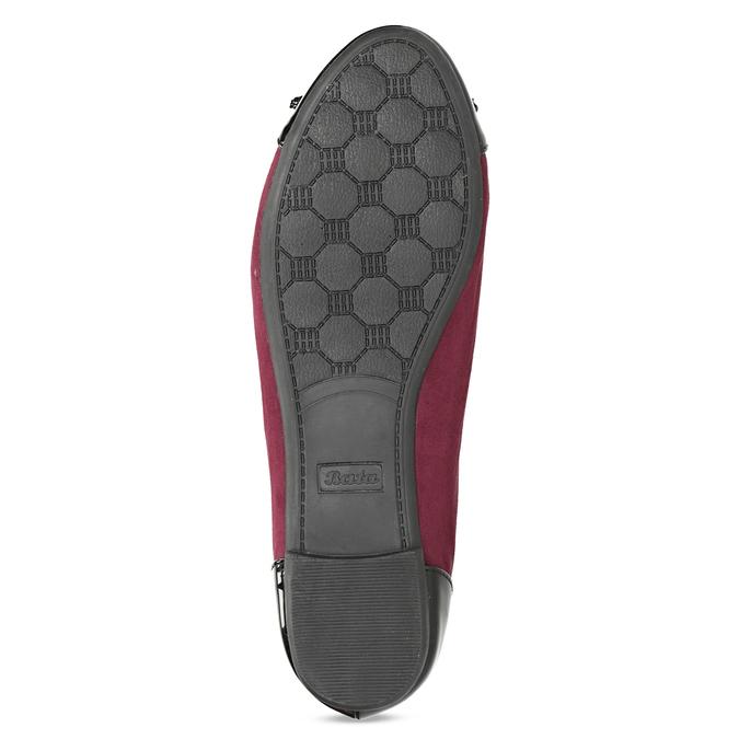 Vínové baleríny s lakovanou špicí a patou bata, červená, 529-5640 - 18