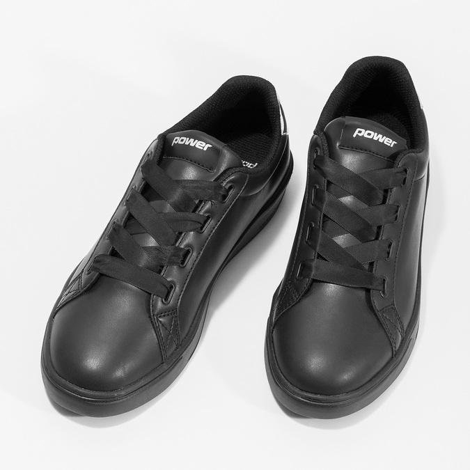 Černé dámské tenisky se stříbrnými detaily power, černá, 501-6168 - 16