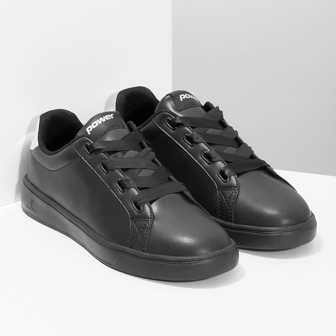 Černé dámské tenisky se stříbrnými detaily power, černá, 501-6168 - 26