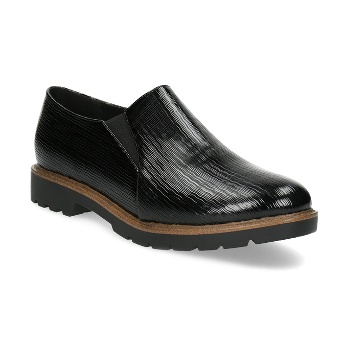 Dámská Slip-on obuv se strukturou bata, černá, 511-6612 - 13