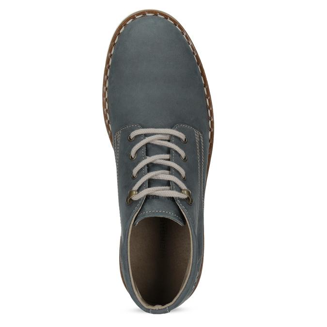 Pánská kožená kotníčková modrá obuv weinbrenner, modrá, 846-9658 - 17