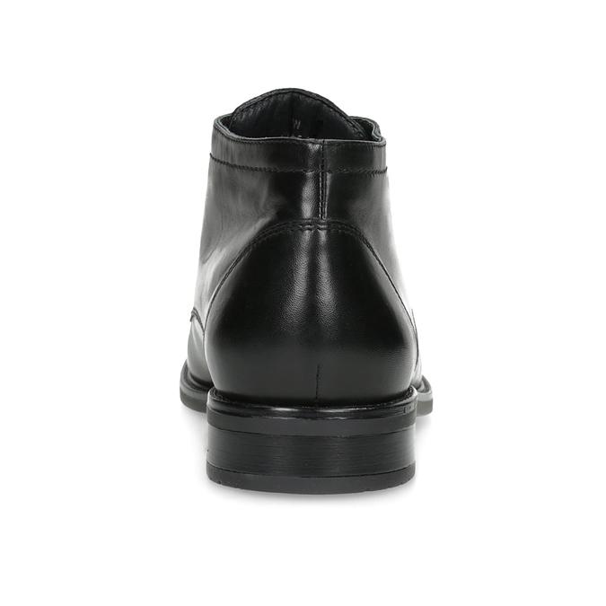 Kožená pánská kotníčková obuv bata, černá, 824-6893 - 15