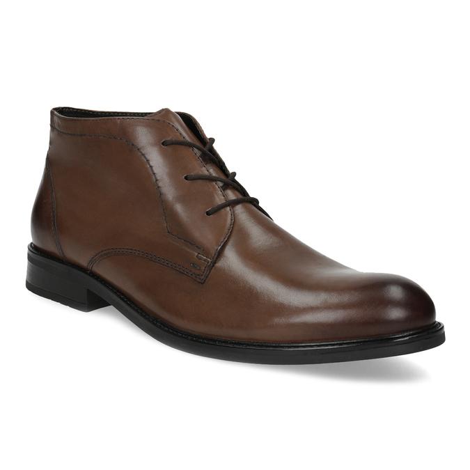Pánská kožená kotníčková obuv bata, hnědá, 826-3893 - 13