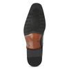 Kožené pánské Derby polobotky s prošitím bata, černá, 824-6633 - 18