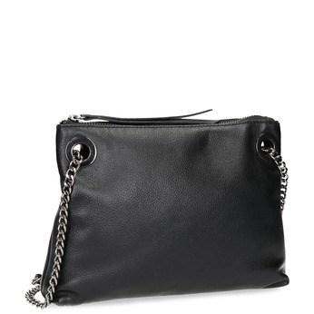 Kožená černá Crossbody kabelka bata, černá, 964-6602 - 13