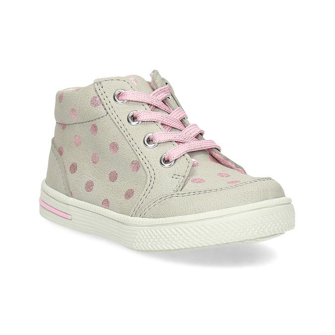 c7e6a0eb78f Bubblegummers Dívčí kotníkové boty s růžovými puntíky - Děti