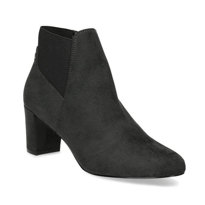 Šedá dámská kotníčková obuv s elastickou patou bata, šedá, 799-2625 - 13