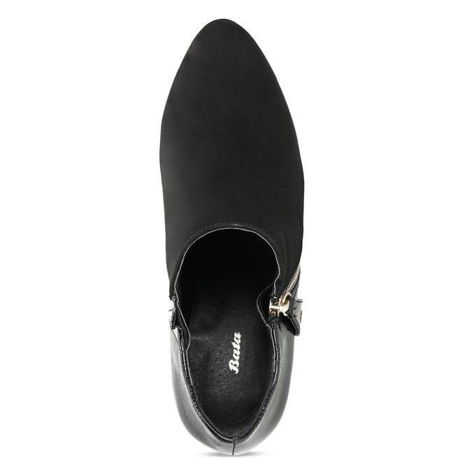 Dámská kotníčková obuv na jehlovém podpatku insolia, černá, 799-6637 - 17