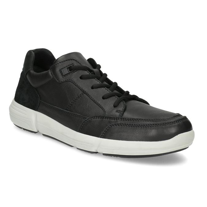 Černé pánské tenisky s prošitím bata-light, černá, 844-6647 - 13