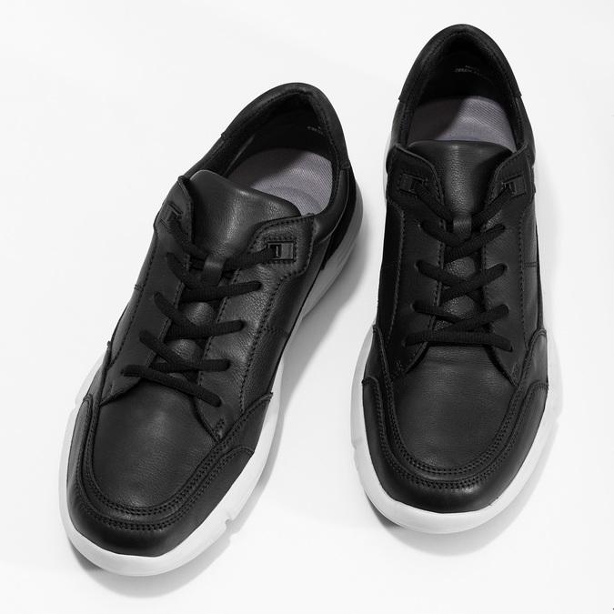 Černé pánské tenisky s prošitím bata-light, černá, 844-6647 - 16