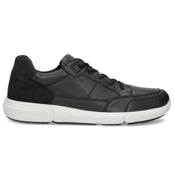 Černé pánské tenisky s prošitím bata-light, černá, 844-6647 - 19