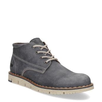 Pánská kožená kotníčková obuv weinbrenner, modrá, 846-2658 - 13