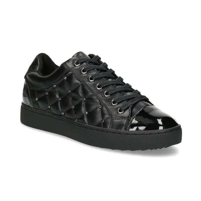 Dámské prošívané tenisky černé bata-light, černá, 541-6603 - 13