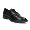 Černé dámské kožené polobotky bata, černá, 524-6666 - 13