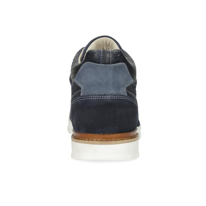 Tmavě modré kožené tenisky bata, modrá, 846-9717 - 15