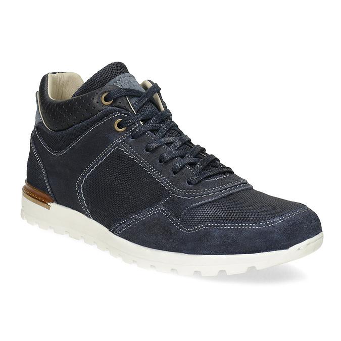 Tmavě modré kožené tenisky bata, modrá, 846-9717 - 13