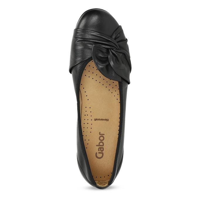 Černé kožené dámské baleríny gabor, černá, 524-6048 - 17