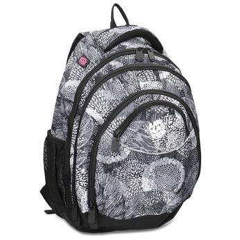 Černo-bílý školní batoh bagmaster, šedá, 969-2719 - 13